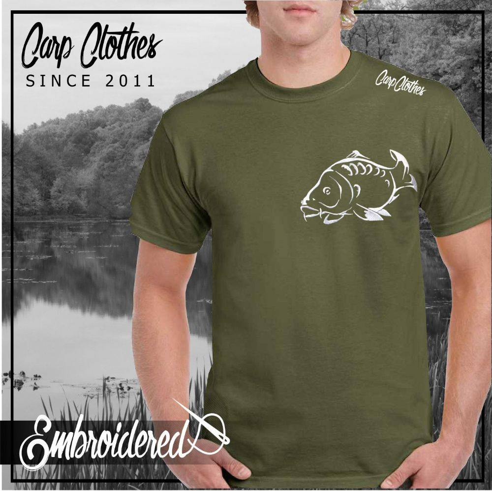 001 EMBROIDERED CARP T SHIRT